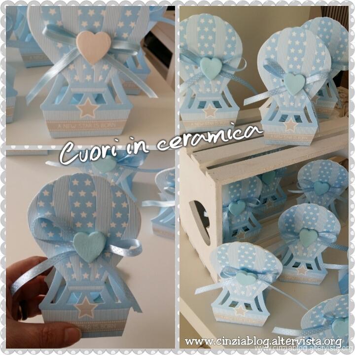 Confezione con scatola mongolfiera ceramica