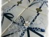 confezione Blu con rosa bianca
