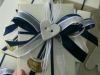 confezione bianca e blu cm 11