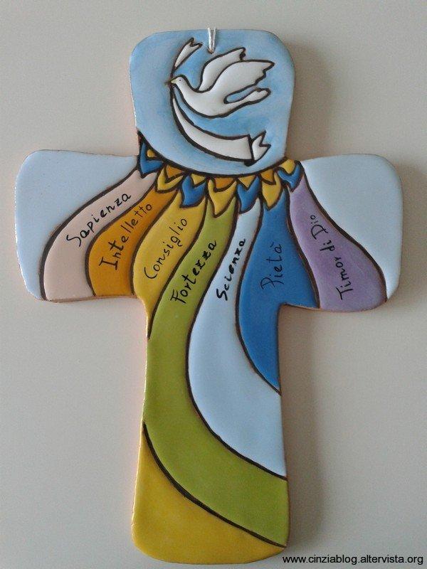ART. C337 croce spirito santo cm. 33