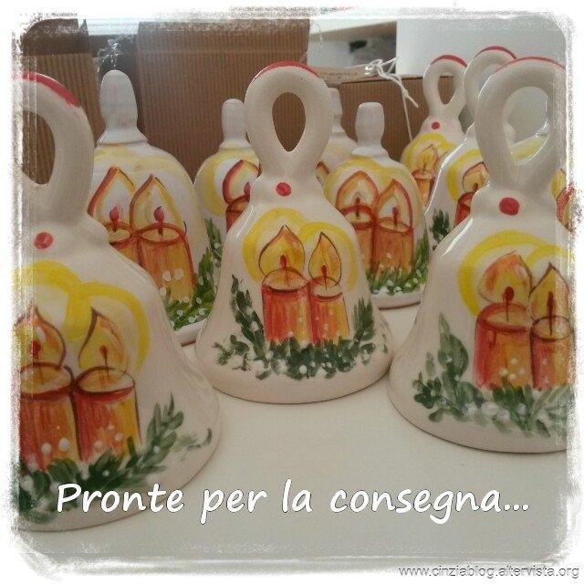 campanelle in ceramica Natalizie