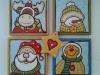 Mattonelle di ceramica natalizie