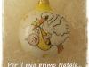Pallina cm 9 in ceramica il primo natale