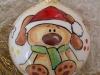 pallina con cane in ceramica
