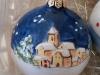pallina in ceramica con paesaggio