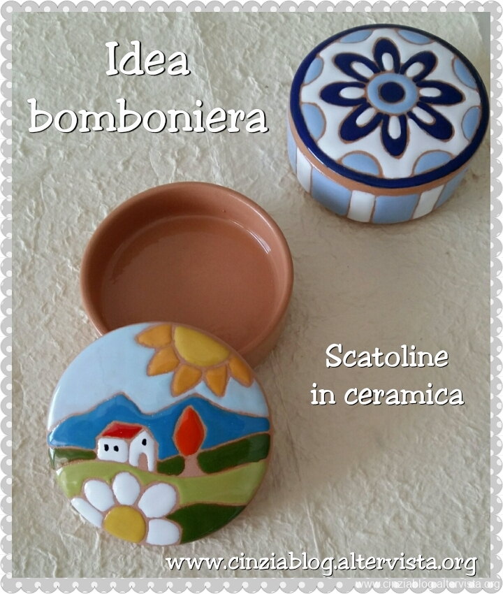 scatolina in ceramica