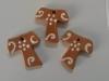 tau in terracotta lucidi con disegni a rilievo cm. 3