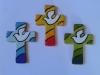 Crocifissi di ceramica con colomba Spirito Santo
